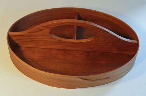Keith Shorrock - Traditional Shaker Tray in Cherry (3 divisions, 32 x 23 x 6cm): £75